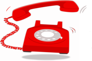 animated red rotary phone ringing
