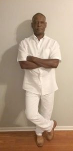 man in all white outfit