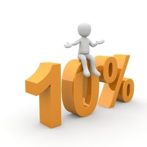 10 percent image